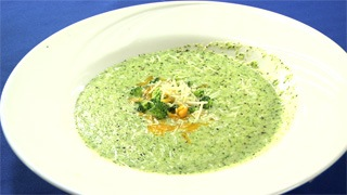 Puree of Broccoli Parmesan Soup